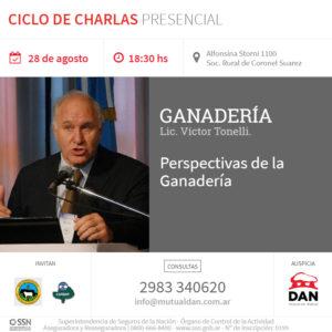Banner Charla Lic. Víctor Tonelli. 28-agosto-2019 carbap y rural suarez